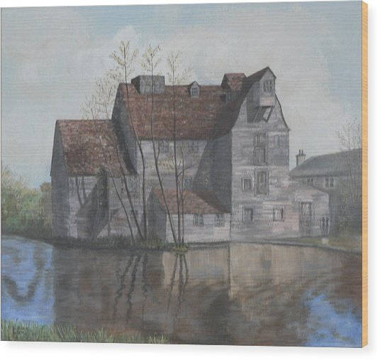Old English Mill Wood Print by Dan Bozich