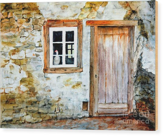Old Farm House Wood Print