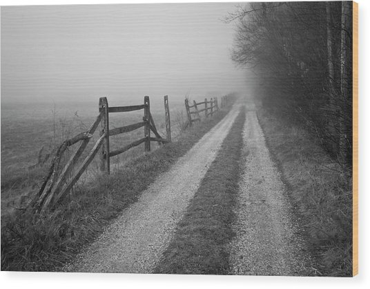 Old Farm Road Wood Print