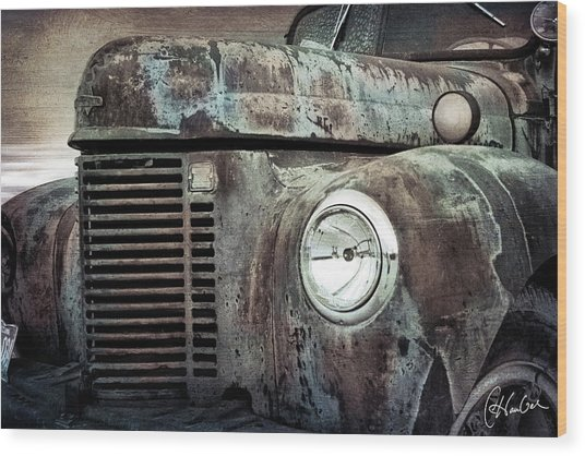 Old Farm Truck IIi Wood Print by Christine Hauber