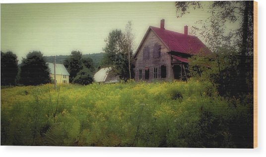Old Farmhouse - Woodstock, Vermont Wood Print
