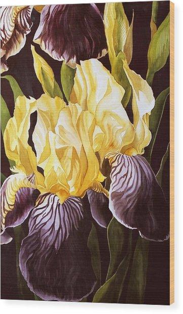 Old Fashion Iris Wood Print