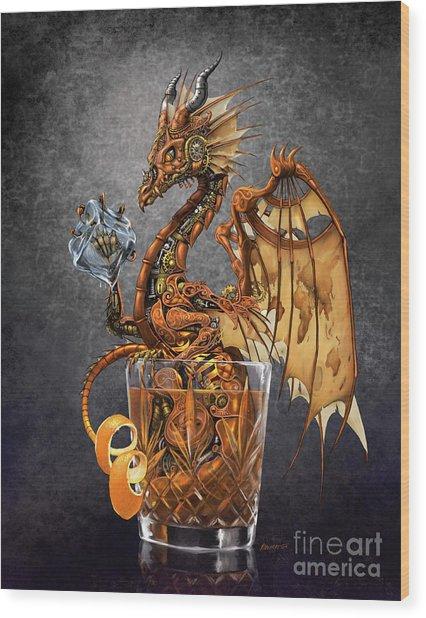 Old Fashioned Dragon Wood Print