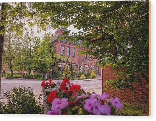 Old Fire Station Easthampton, Ma Wood Print