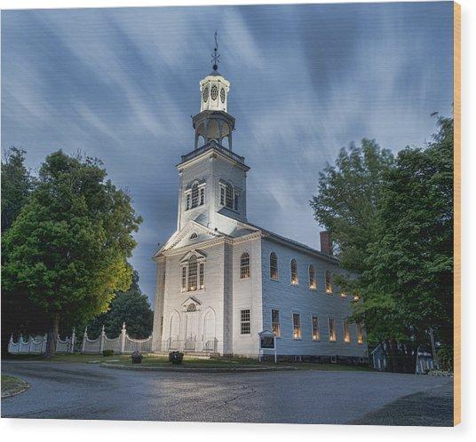 Old First Church Of Bennington Wood Print