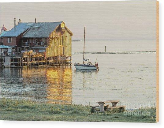 Old Fishermans Shack In Norway Wood Print