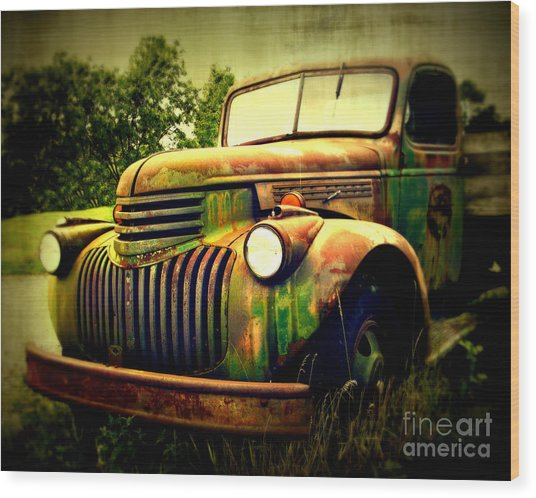 Old Flatbed 2 Wood Print
