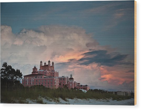 Old Florida Hotel Wood Print by Patrick  Flynn