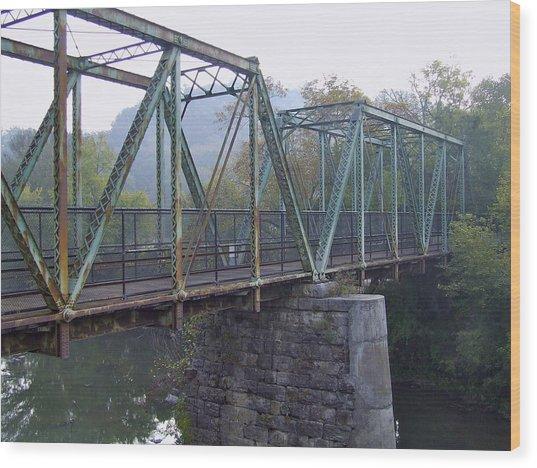 Old Foot Bridge Wood Print