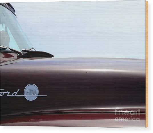 Old Ford F100 Truck - Img4781 Wood Print by Wingsdomain Art and Photography
