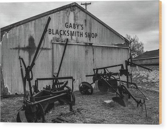Old Frisco Blacksmith Shop Wood Print