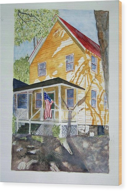 Old Glory Wood Print by Larry Wright