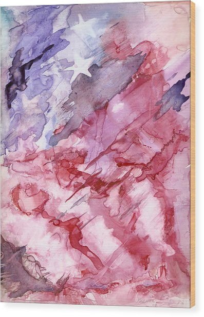 Old Glory Wood Print by Roger Parnow