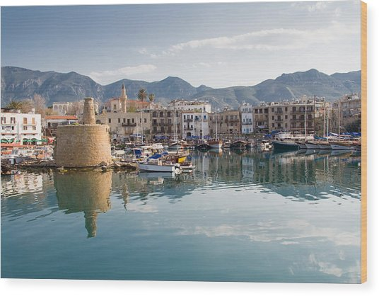 Old Harbour Of  Kyrenia Wood Print