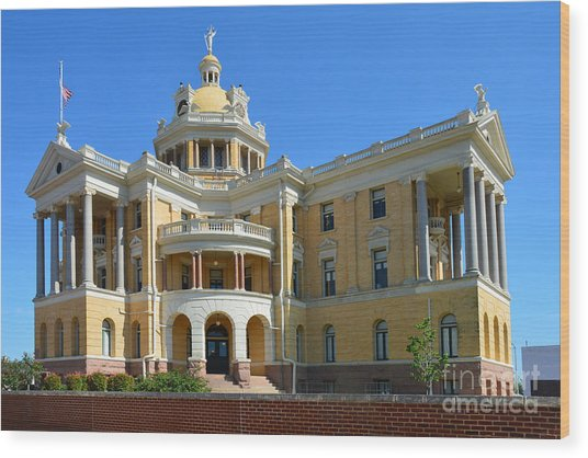 Old Harrison County Courthouse Wood Print