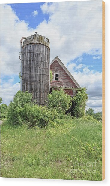 Old Historic Barn In Vermont Wood Print