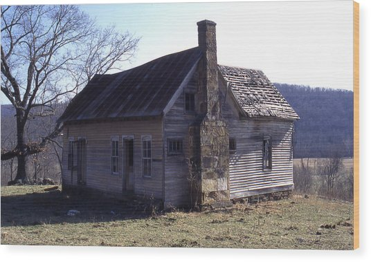 Old House Wood Print by Curtis J Neeley Jr
