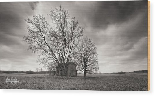 Old House Panorama Wood Print