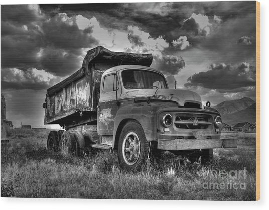 Old International #2 - Bw Wood Print
