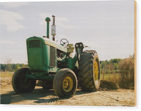 Old John Deere Wood Print