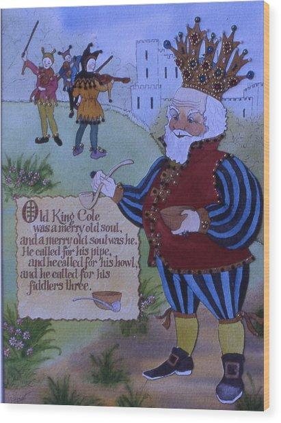 Old King Cole Wood Print by Victoria Heryet