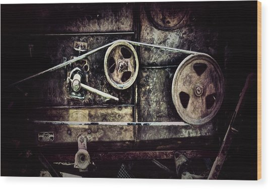 Old Machine Wood Print