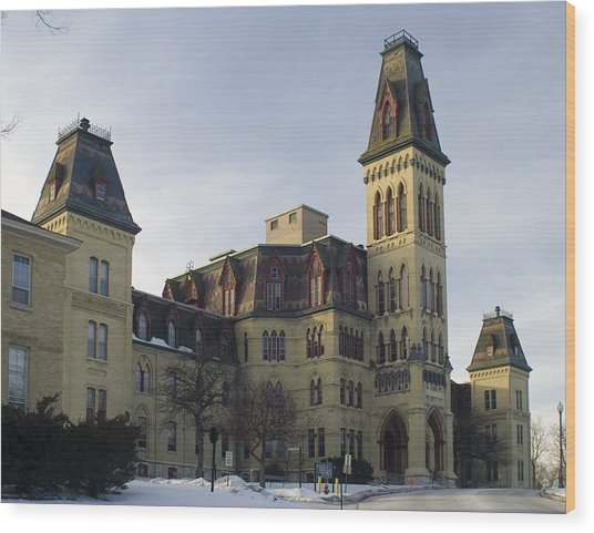Old Main At Woods Wisconsin Wood Print