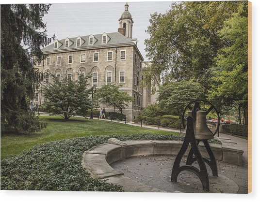 Old Main Penn State Bell  Wood Print