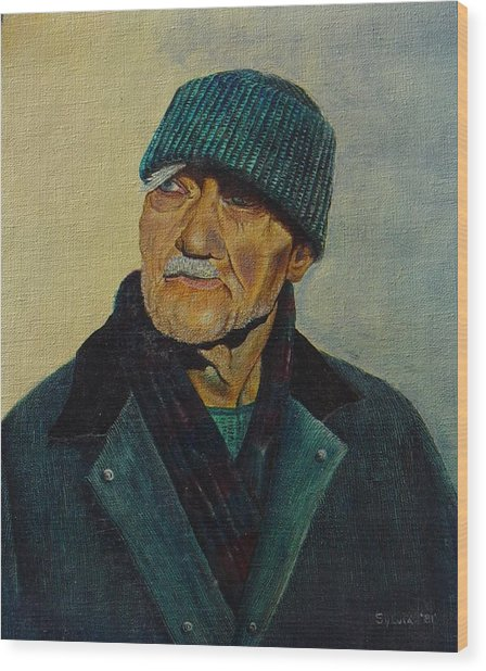 Old Man Of The Sea Wood Print by Ron Sylvia