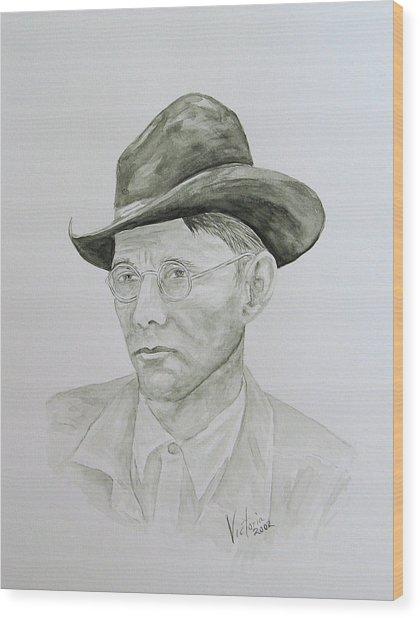 Old Man Wood Print by Torrie Smiley