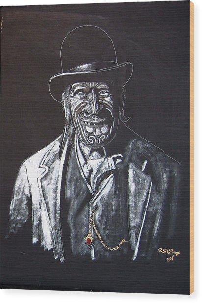 Old Maori Tane Wood Print