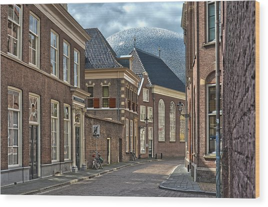 Old Meets New In Zwolle Wood Print