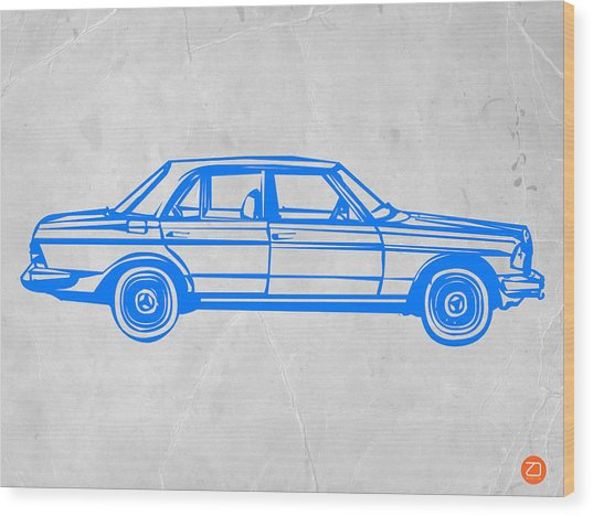 Old Mercedes Benz Wood Print