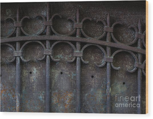 Old Metal Gate Wood Print