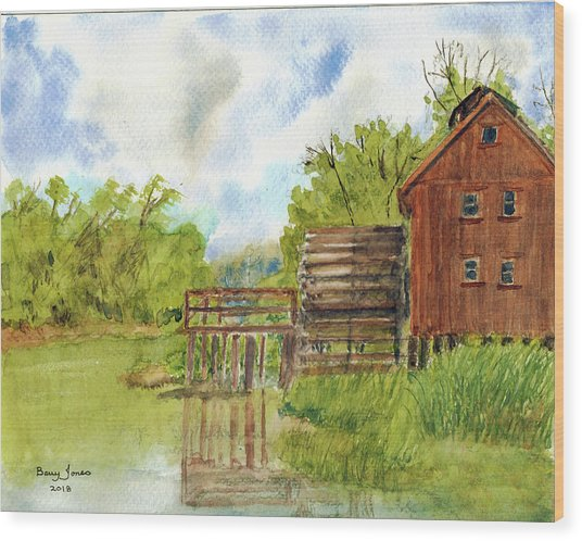 Wood Print featuring the painting Old Mill by Barry Jones