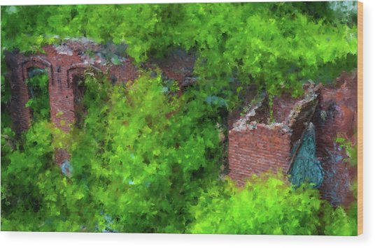 Old Mill Building In Lawrence Massachusetts Wood Print