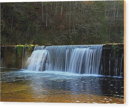 Old Mill Dam Wood Print