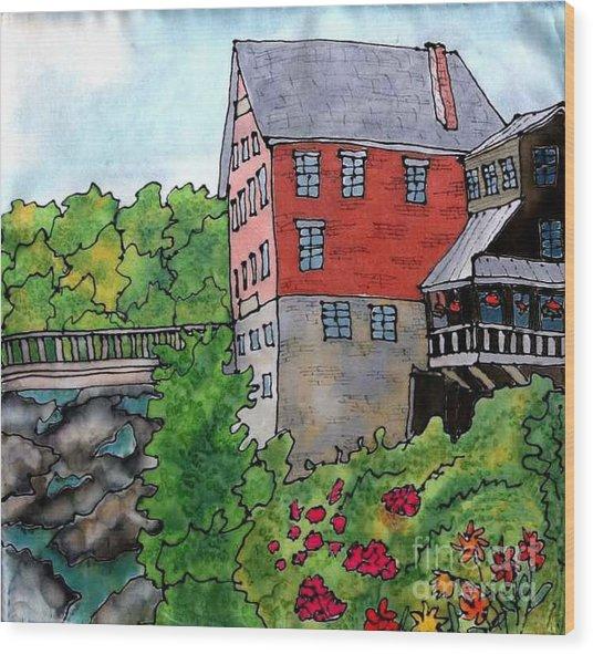 Old Mill In Bradford Wood Print by Linda Marcille