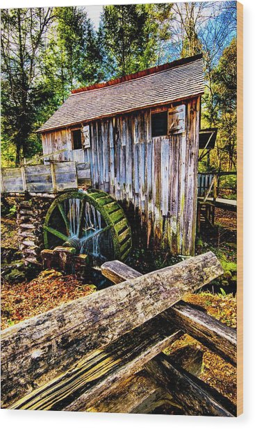 Old Mill Wood Print