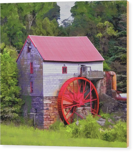 Old Mill Of Guilford Painted Square Wood Print