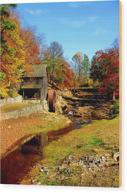 Old Mill Wood Print by Ralph  Perdomo