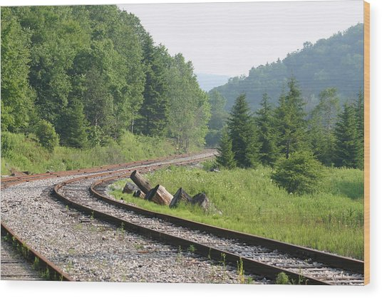 Old Mountain Railway Wood Print by Christopher Purcell