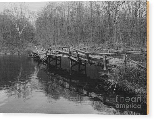 Old Mule Bridge Wood Print