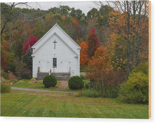 Old New England Church Wood Print