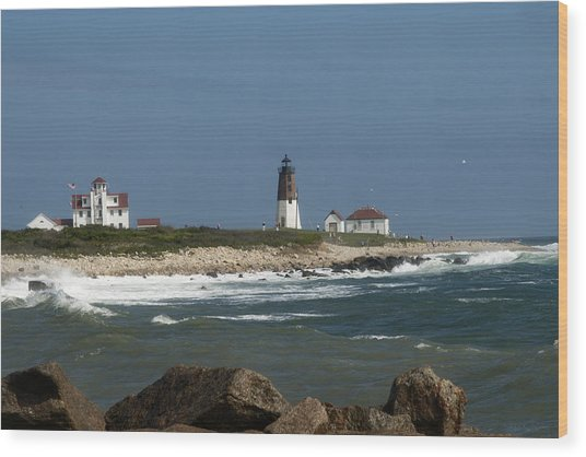 Old New England Lighthouse Wood Print