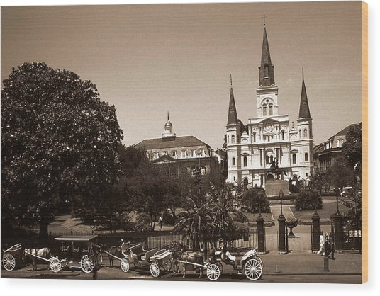 Old New Orleans Photo - Saint Louis Cathedral Wood Print