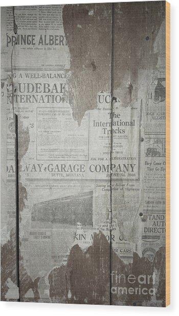 Old News Wood Print