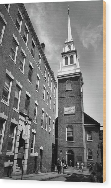 Old North Church Wood Print