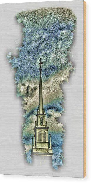 Old North Church Steeple Wood Print