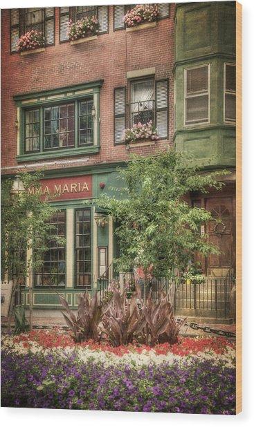 Old North End - North Square - Boston Wood Print